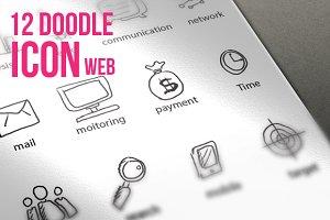 12 Doodle Icon Web