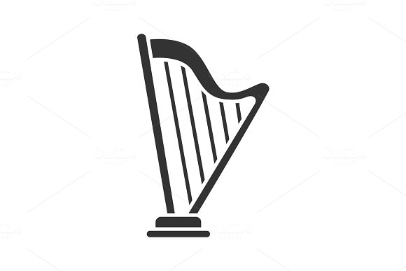 Harp Glyph Icon