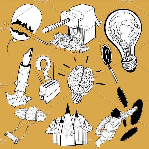 Illustration Set Of Creative Ideas