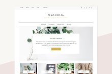 Minimalist WordPres Theme - Magnolia by Cristina Silvia in Blog