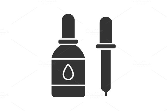Eye Drops And Dropper Glyph Icon