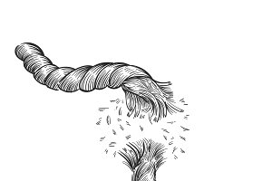 Hand drawn illustration of failure