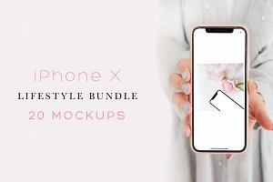 IPHONE X - BUNDLE. 20 MOCKUPS.
