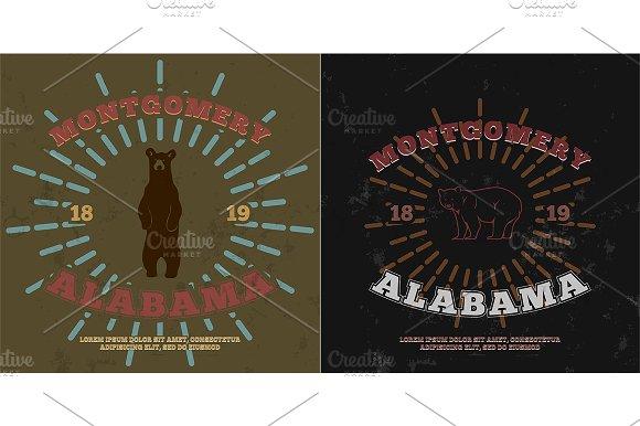 Montgomery Alabama. t-shirt graphic - Illustrations