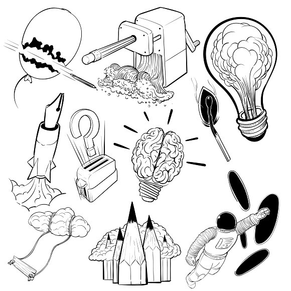 Drawing Illustration Set Of Creative