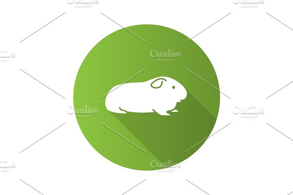Cavy Flat Design Long Shadow Glyph Icon