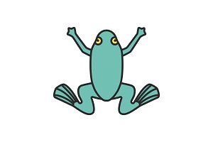 Frog color icon
