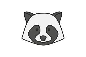 Raccoon color icon