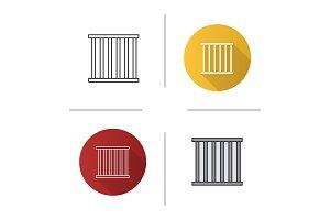 Prison bars icon