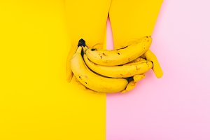 bananas. dual color