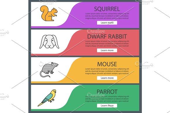 Pets Web Banner Templates Set