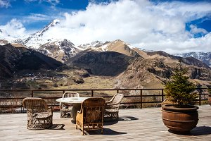 Terrace in mountains