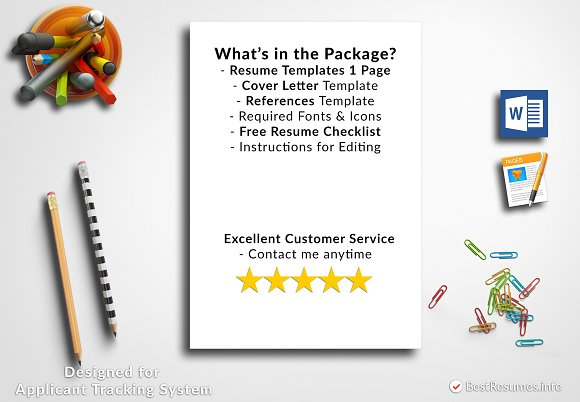 Resume Template Pages & Word ~ Resume Templates ~ Creative Market