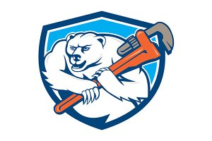 Polar Bear Plumber Monkey Wrench Shi