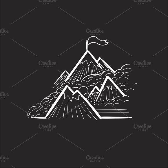 Mountain Tops Goals Vector