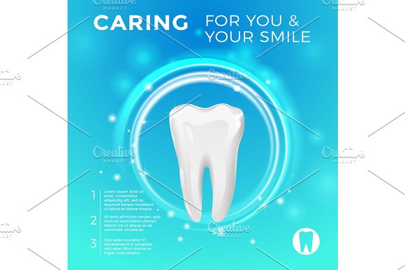 Protection Of Healthy Teeth Vector Pictures For Medicine Poster