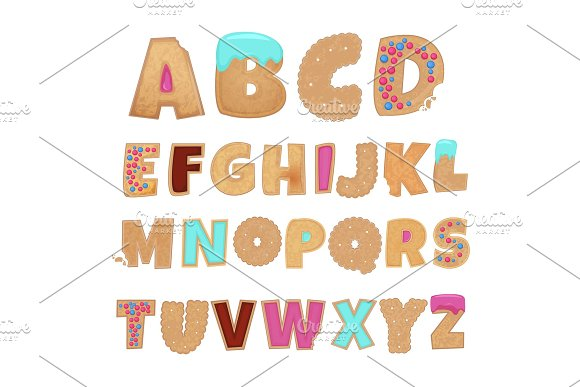 English Alphabet From Cookies