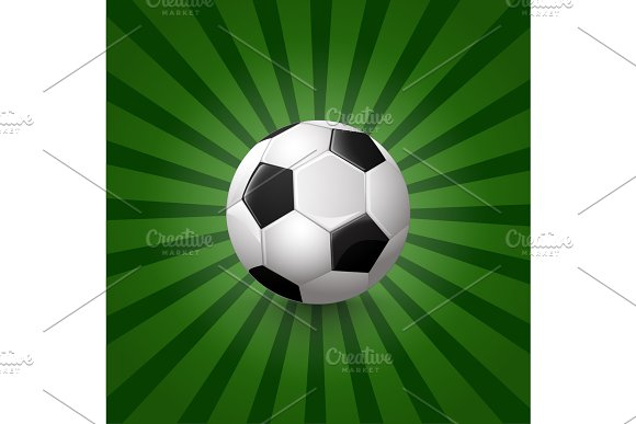 Soccer Ball On Background