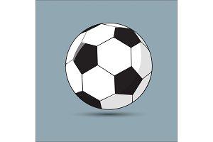 Vector illustration of a soccer, soccer-ball
