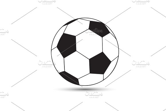 Vector Illustration Of A Soccer Soccer-ball