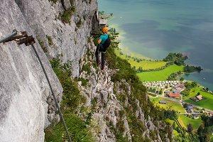 Via ferrata climbers