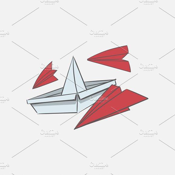 Illustration Of Paper Boat