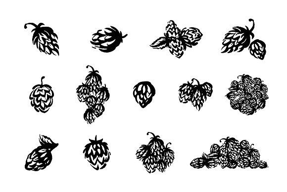 Hop Emblem Icon Illustration