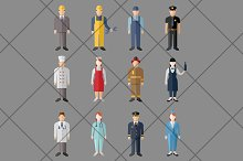 Professions Vector Flat Icons