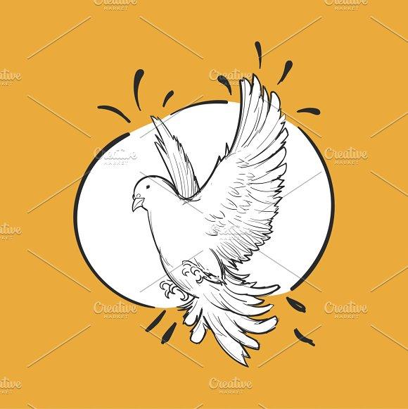 Illustration of a free bird