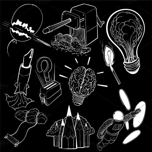 Illustration of new idea innovation