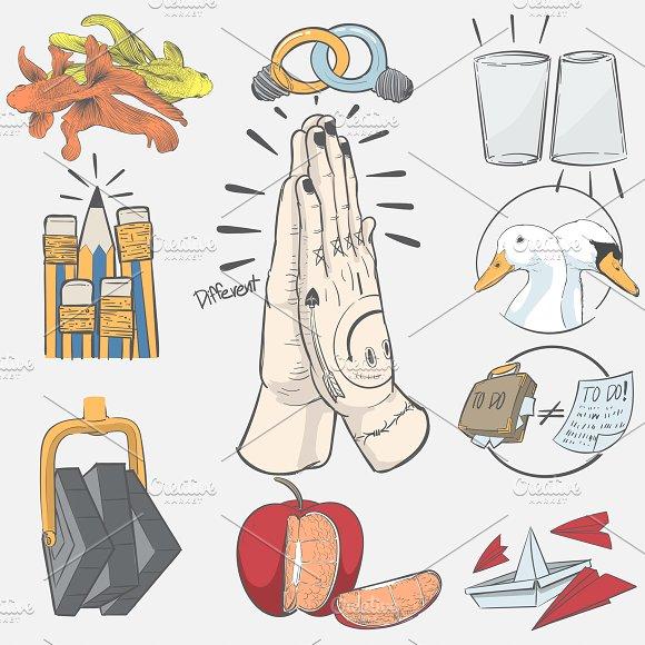 Illustration of individuality idea in Illustrations