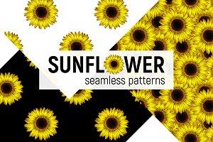 Sunflower - seamless patterns.
