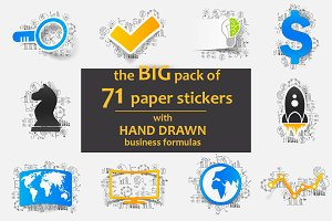 71 PAPER STICKERS-business formulas