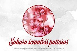 SALE: sakura seamless patterns | JPG