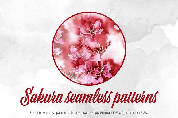 SALE Sakura Seamless Patterns JPG
