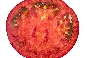 Marglobe tomato slice