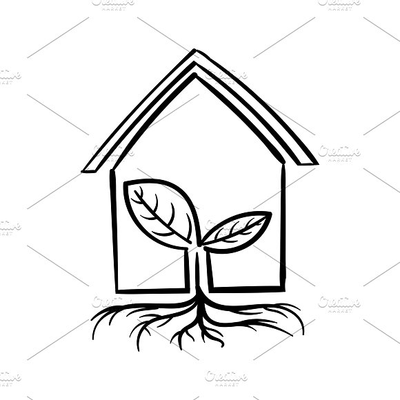 Illustration Of A Green House