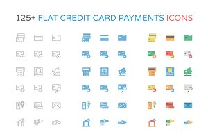 125+ Flat Credit Card Payment Icons