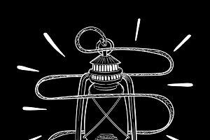 Illustration of an unique lamp