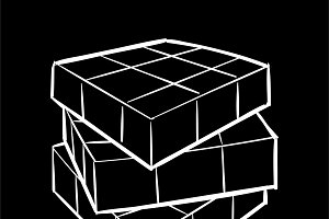Illustration of a cube