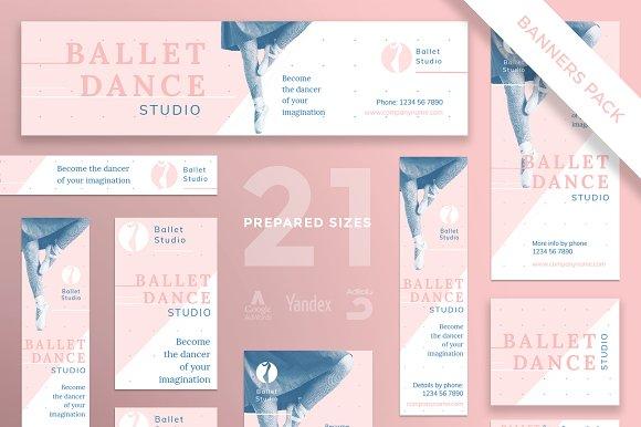Banners Pack Ballet Dance Studio