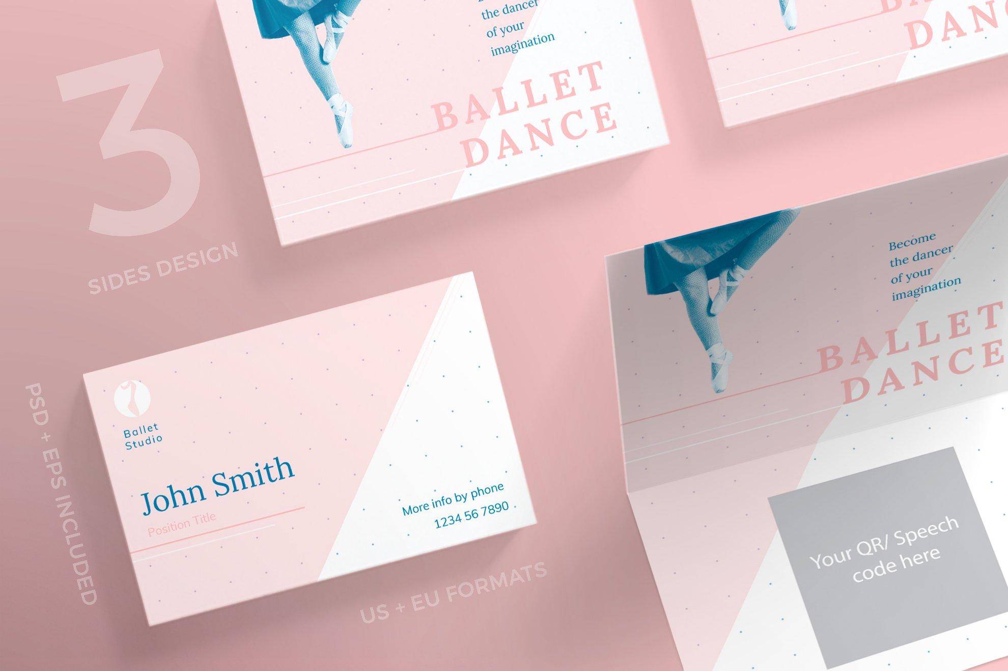Business Cards | Ballet Dance Studio ~ Business Card Templates ...