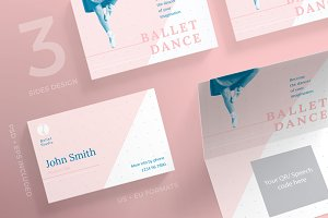 Business Cards | Ballet Dance Studio