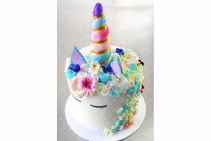 Unicorn Cake stock image