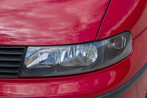 headlight of a car