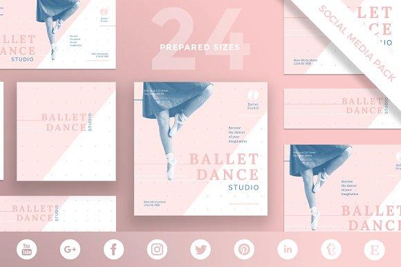 Social Media Pack Ballet Studio