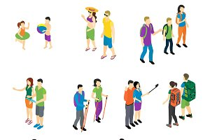 People Isometric Travel Set