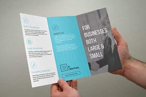 Blue Corporate Trifold Brochure