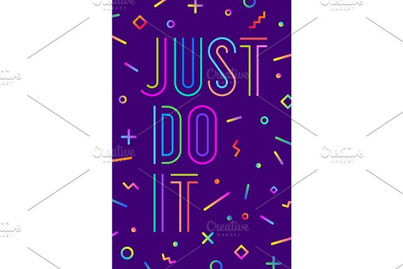 Motivation Positive Poster Just Do It