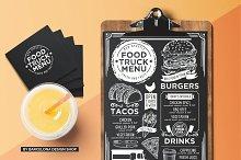 Food Truck Blackboard Menu